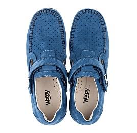 Детские туфли Woopy Orthopedic синие для мальчиков натуральный нубук размер 35-35 (3434) Фото 5