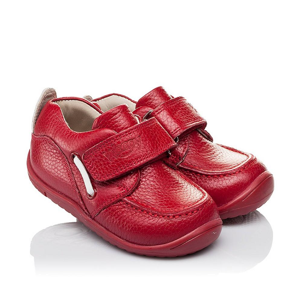 Детские мокасины Woopy Orthopedic красные для девочек натуральная кожа размер 18-25 (3440) Фото 1