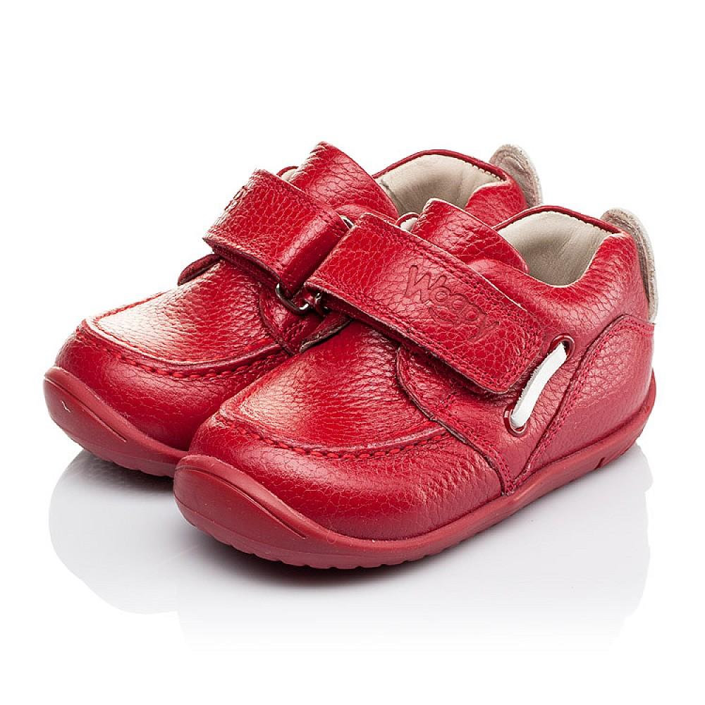 Детские мокасины Woopy Orthopedic красные для девочек натуральная кожа размер 18-25 (3440) Фото 3