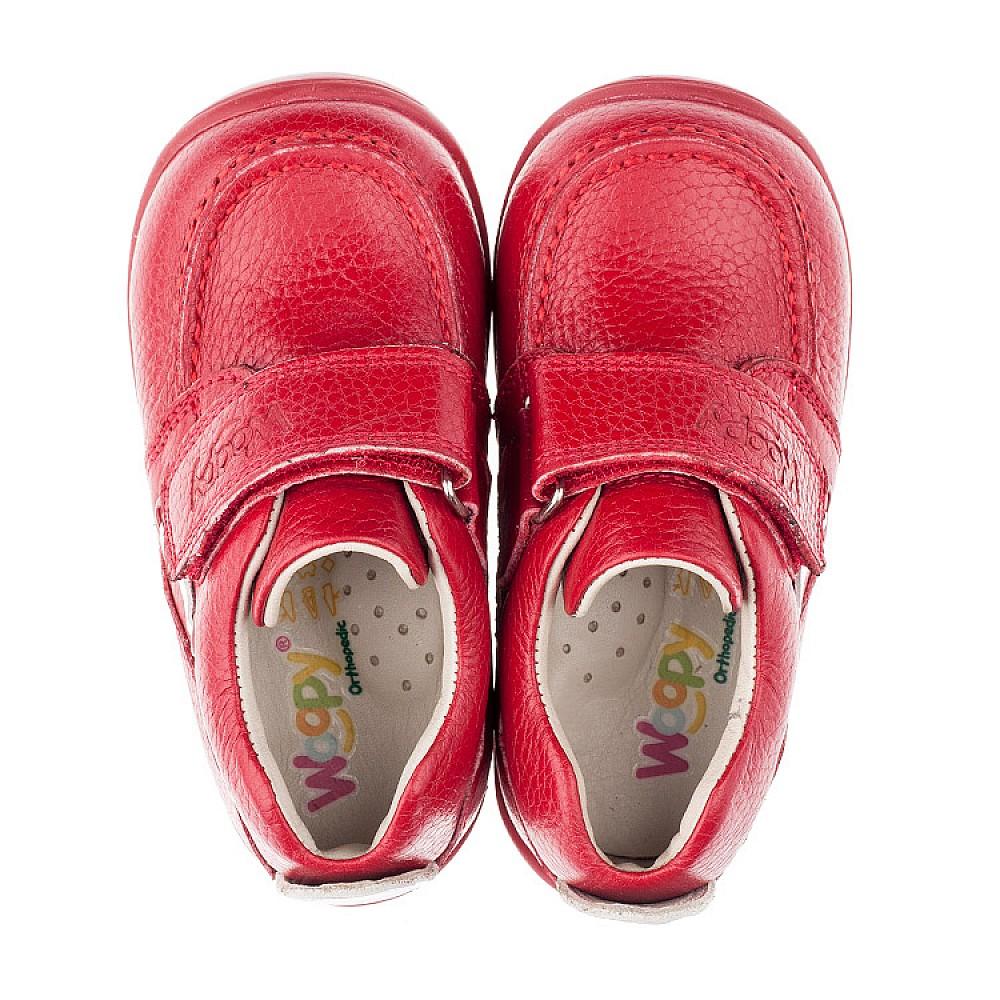 Детские мокасины Woopy Orthopedic красные для девочек натуральная кожа размер 18-25 (3440) Фото 5