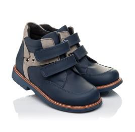 Детские демисезонные ботинки Woopy Orthopedic синие для мальчиков натуральная кожа размер 18-19 (3447) Фото 1