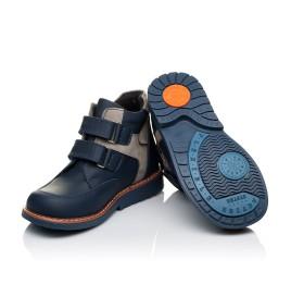 Детские демисезонные ботинки Woopy Orthopedic синие для мальчиков натуральная кожа размер 18-19 (3447) Фото 2