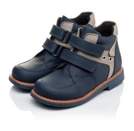 Детские демисезонные ботинки Woopy Orthopedic синие для мальчиков натуральная кожа размер 18-19 (3447) Фото 3