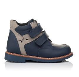 Детские демисезонные ботинки Woopy Orthopedic синие для мальчиков натуральная кожа размер 18-19 (3447) Фото 4