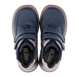 Детские демисезонные ботинки Woopy Orthopedic синие для мальчиков натуральная кожа размер 18-19 (3447) Фото 5