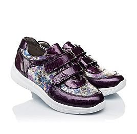 Детские кроссовки Woopy Orthopedic фиолетовые, разноцветные для девочек лаковая кожа/натуральная кожа размер 27-27 (3453) Фото 1