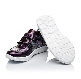 Детские кроссовки Woopy Orthopedic фиолетовые, разноцветные для девочек лаковая кожа/натуральная кожа размер 27-27 (3453) Фото 2