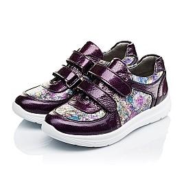 Детские кроссовки Woopy Orthopedic фиолетовые, разноцветные для девочек лаковая кожа/натуральная кожа размер 27-27 (3453) Фото 3