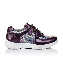 Детские кроссовки Woopy Orthopedic фиолетовые, разноцветные для девочек лаковая кожа/натуральная кожа размер 27-27 (3453) Фото 4