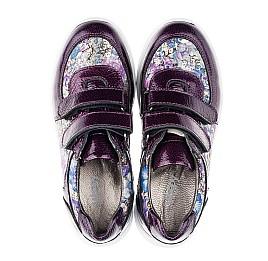 Детские кроссовки Woopy Orthopedic фиолетовые, разноцветные для девочек лаковая кожа/натуральная кожа размер 27-27 (3453) Фото 5