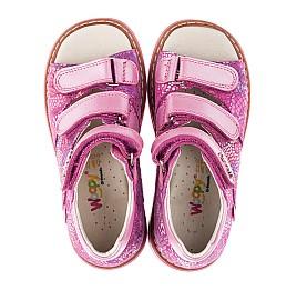 Детские ортопедические босоножки Woopy Orthopedic розовые для девочек натуральная кожа / натуральный нубук размер - (3454) Фото 5