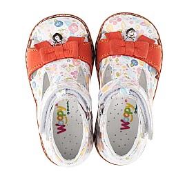 Детские закрытые босоножки Woopy Orthopedic разноцветные для девочек натуральная кожа / натуральный нубук размер - (3459) Фото 5