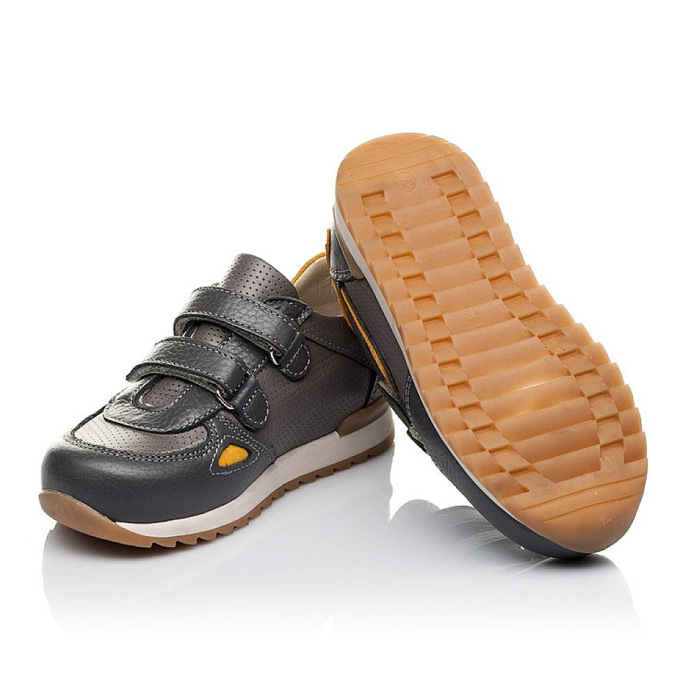 Детские кроссовки Woopy Orthopedic серые для мальчиков натуральная кожа / натуральный нубук размер 20-36 (3461) Фото 2