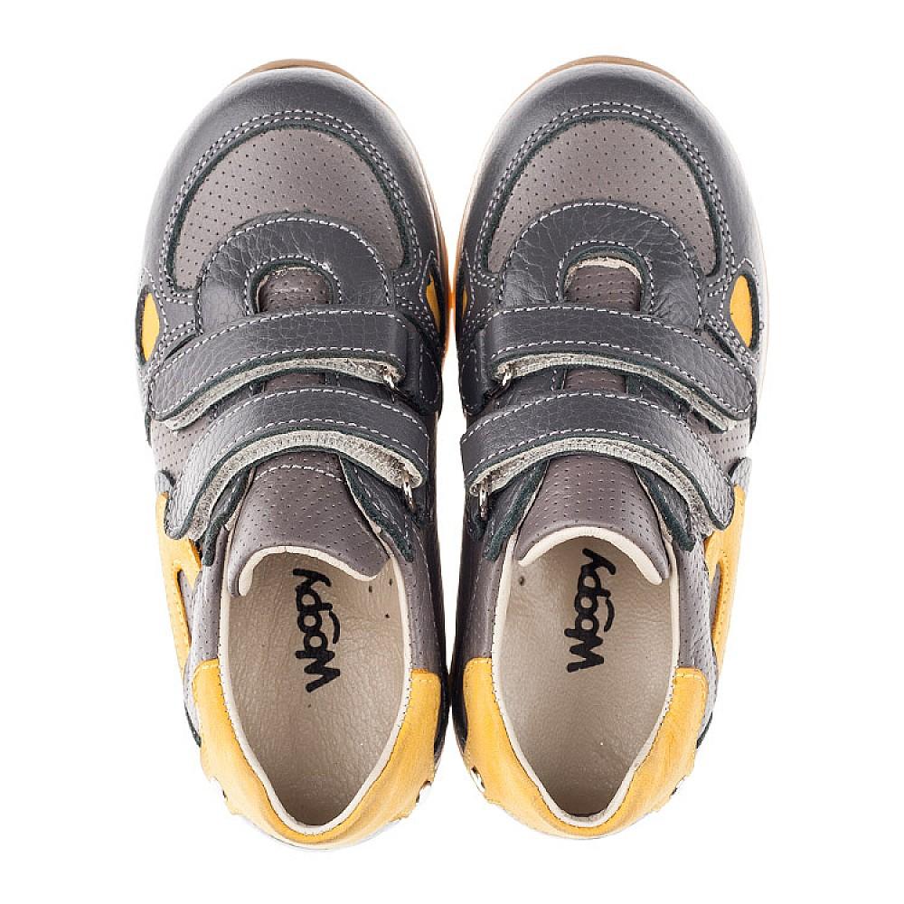 Детские кроссовки Woopy Orthopedic серые для мальчиков натуральная кожа / натуральный нубук размер 20-36 (3461) Фото 5