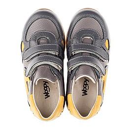 Детские кроссовки Woopy Orthopedic серые для мальчиков натуральная кожа / натуральный нубук размер 20-20 (3461) Фото 5