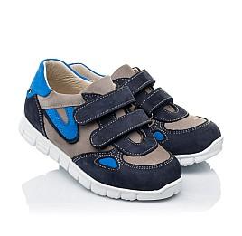 Детские кроссовки Woopy Orthopedic серые, синие для мальчиков натуральный нубук размер 23-31 (3462) Фото 1