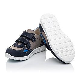 Детские кроссовки Woopy Orthopedic серые, синие для мальчиков натуральный нубук размер 23-31 (3462) Фото 2