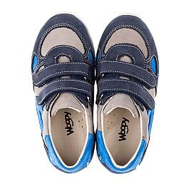 Детские кроссовки Woopy Orthopedic серые, синие для мальчиков натуральный нубук размер 23-31 (3462) Фото 5