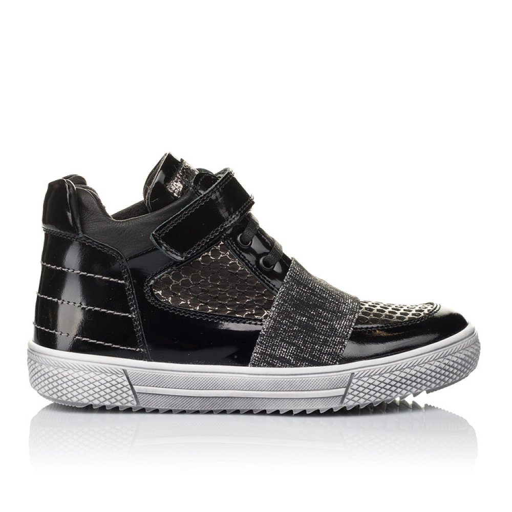 Детские демисезонные ботинки Woopy Orthopedic черные для девочек лаковая кожа, нубук размер 18-40 (3464) Фото 4
