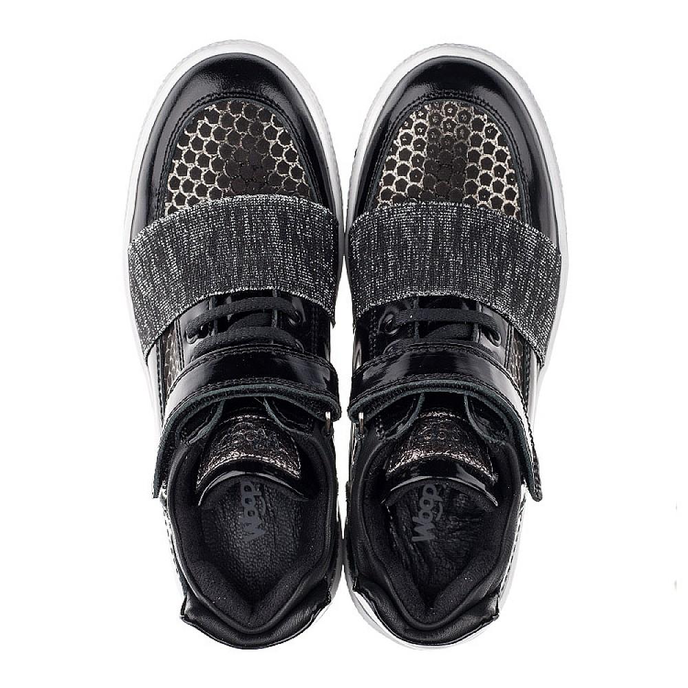 Детские демисезонные ботинки Woopy Orthopedic черные для девочек лаковая кожа, нубук размер 18-40 (3464) Фото 5