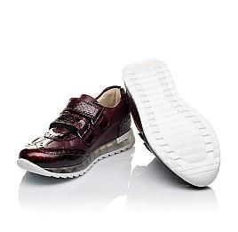 Детские кроссовки Woopy Orthopedic бордовые для девочек лаковая кожа/натуральная кожа размер 34-34 (3465) Фото 2