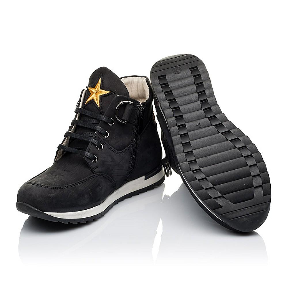 Детские демисезонные ботинки (подкладка кожа) Woopy Orthopedic черные для мальчиков натуральный нубук размер 18-40 (3468) Фото 2