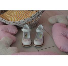 Детские туфли ортопедические Woopy Orthopedic белые, серебро для девочек натуральная лаковая кожа размер 32-32 (3470) Фото 2