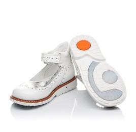 Детские туфли ортопедические Woopy Orthopedic белые, серебро для девочек натуральная лаковая кожа размер 32-32 (3470) Фото 3