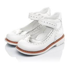 Детские туфли ортопедические Woopy Orthopedic белые, серебро для девочек натуральная лаковая кожа размер 32-32 (3470) Фото 4