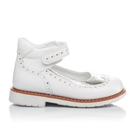 Детские туфли ортопедические Woopy Orthopedic белые, серебро для девочек натуральная лаковая кожа размер 32-32 (3470) Фото 5