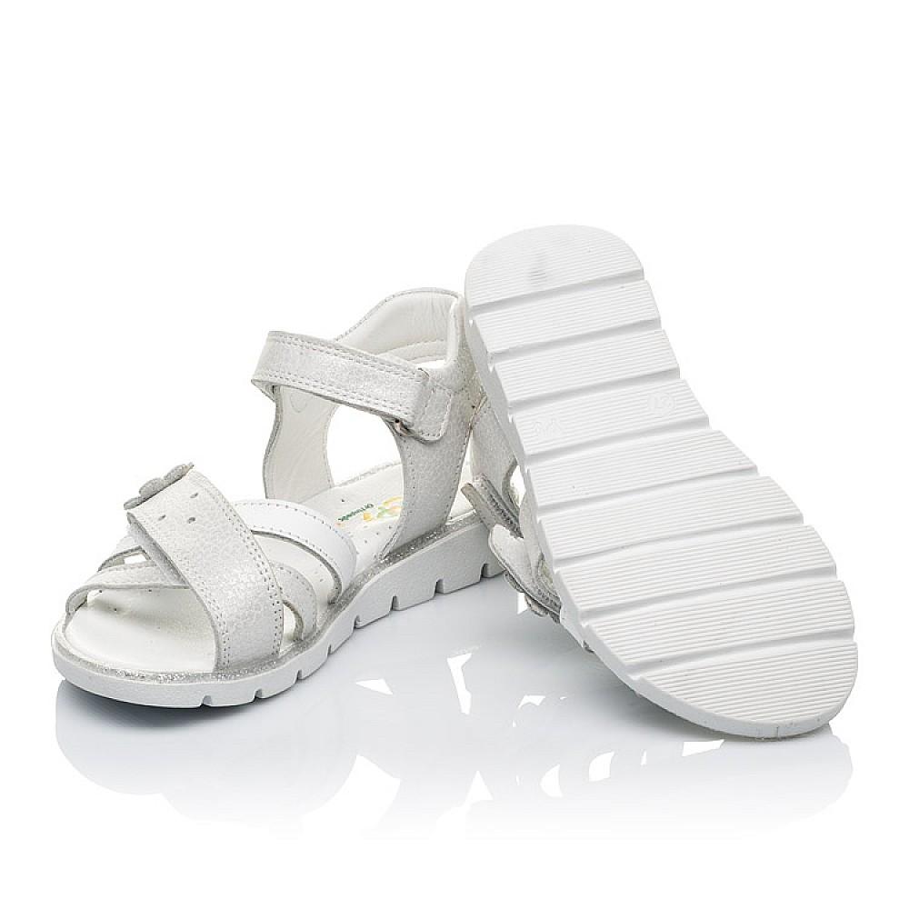 Детские босоножки Woopy Orthopedic белые, серебро для девочек натуральная кожа размер 18-40 (3473) Фото 2