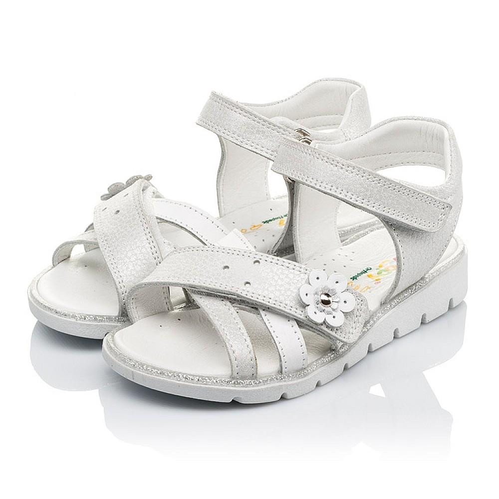 Детские босоножки Woopy Orthopedic белые, серебро для девочек натуральная кожа размер 18-40 (3473) Фото 3