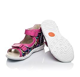Детские босоножки Woopy Orthopedic разноцветные, розовые для девочек натуральная кожа размер - (3479) Фото 2
