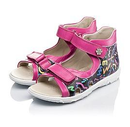 Детские босоножки Woopy Orthopedic разноцветные, розовые для девочек натуральная кожа размер - (3479) Фото 3