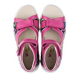 Детские босоножки Woopy Orthopedic разноцветные, розовые для девочек натуральная кожа размер - (3479) Фото 5
