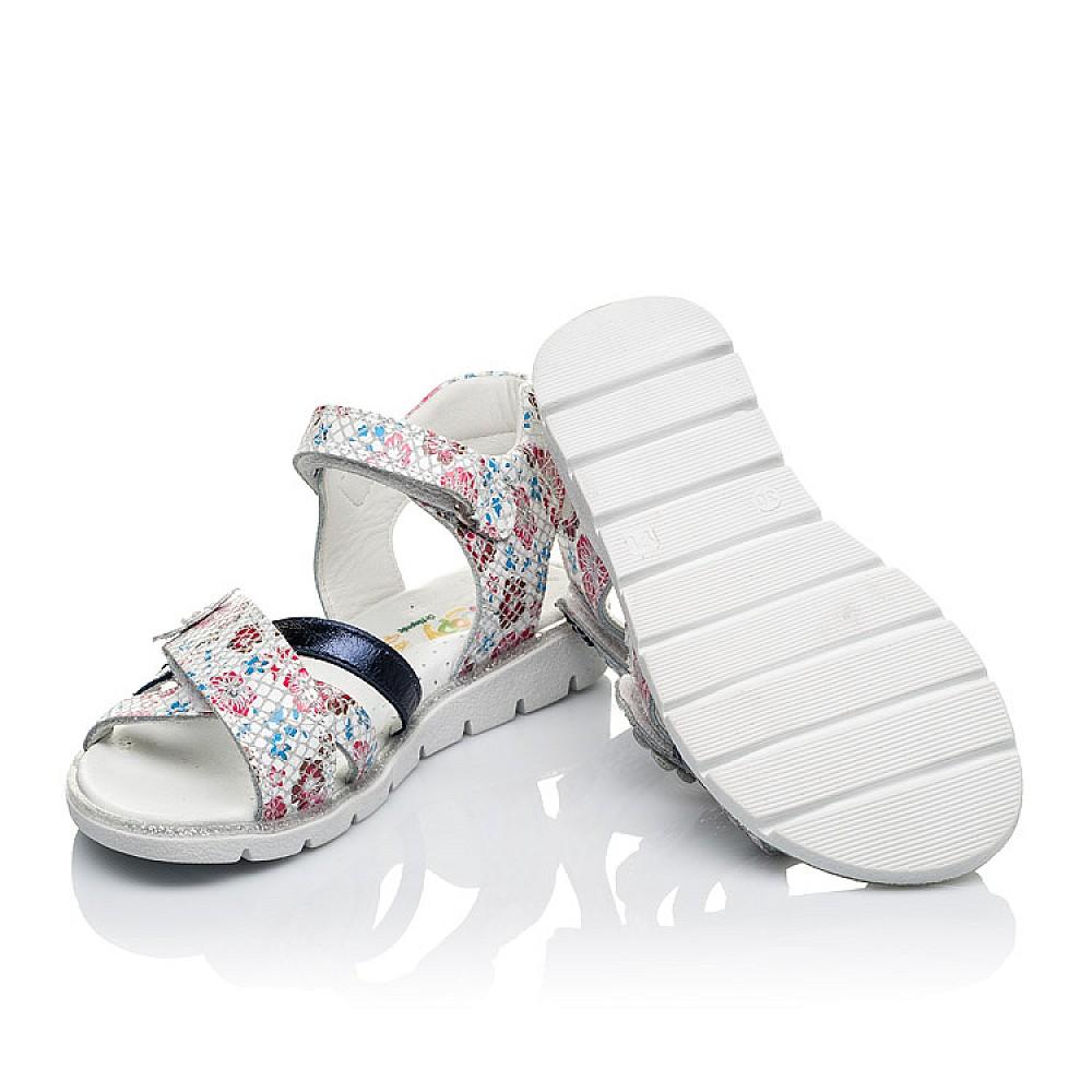 Детские босоножки Woopy Orthopedic белые,разноцветные для девочек натуральная кожа размер 26-36 (3483) Фото 2