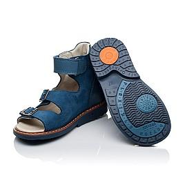 Детские ортопедичні босоніжки (з високим берцем) Woopy Orthopedic синие для мальчиков натуральный нубук размер 21-33 (3488) Фото 2