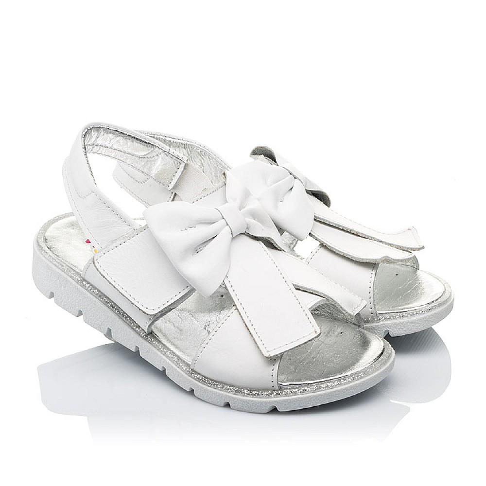 Детские босоножки Woopy Orthopedic белые для девочек натуральная кожа размер 28-35 (3489) Фото 1
