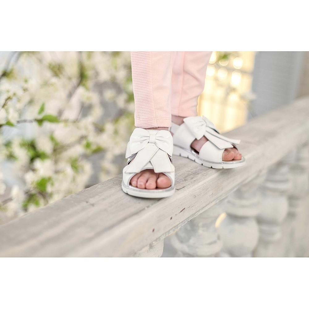 Детские босоножки Woopy Orthopedic белые для девочек натуральная кожа размер 28-35 (3489) Фото 3