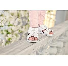 Детские босоножки Woopy Orthopedic белые для девочек натуральная кожа размер - (3489) Фото 3