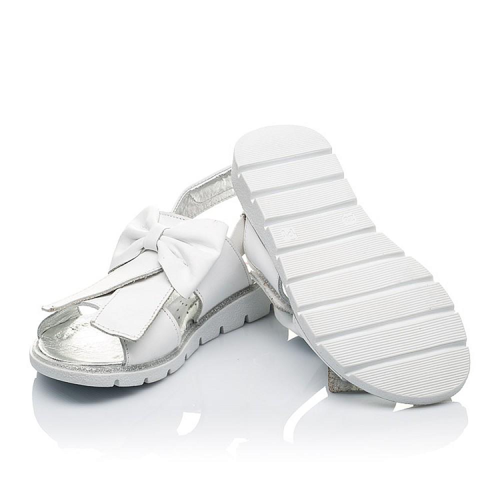 Детские босоножки Woopy Orthopedic белые для девочек натуральная кожа размер 28-35 (3489) Фото 4