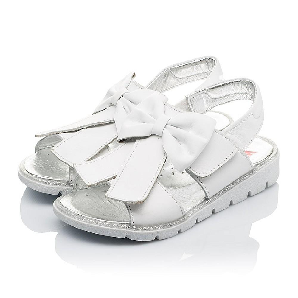 Детские босоножки Woopy Orthopedic белые для девочек натуральная кожа размер 28-35 (3489) Фото 5