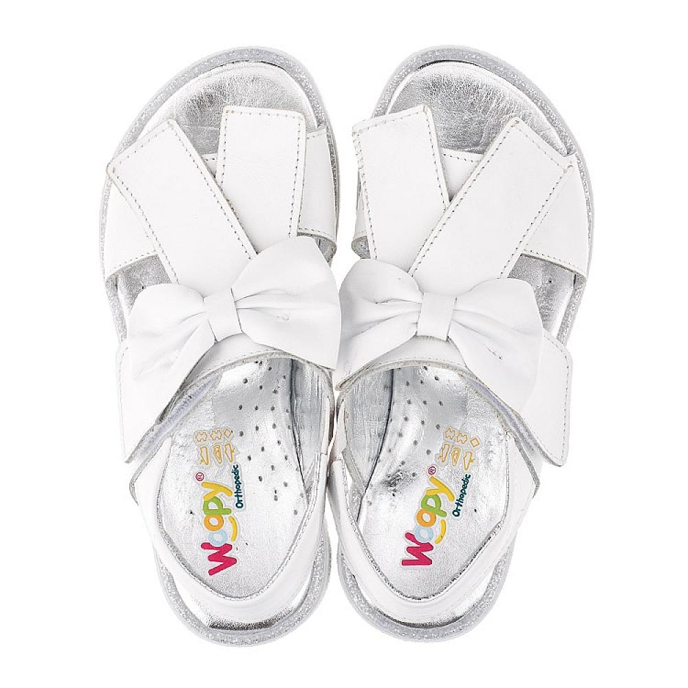 Детские босоножки Woopy Orthopedic белые для девочек натуральная кожа размер 28-35 (3489) Фото 7