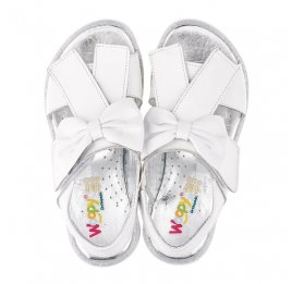 Детские босоножки Woopy Orthopedic белые для девочек натуральная кожа размер 28-30 (3489) Фото 7