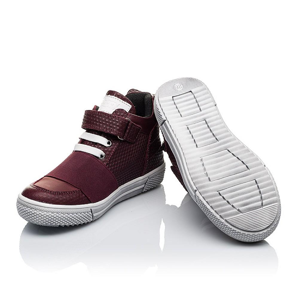 Детские демисезонные ботинки Woopy Orthopedic бордовые для девочек натуральная кожа, текстиль размер 21-33 (3490) Фото 2