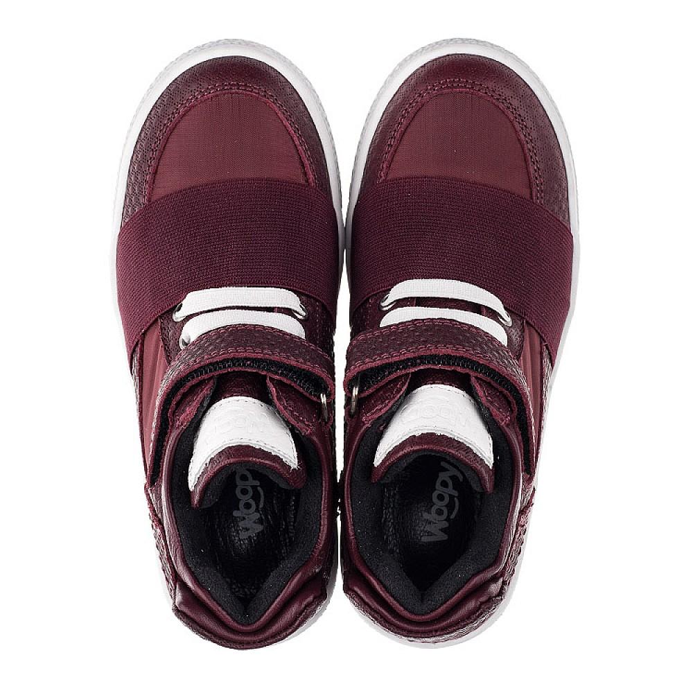 Детские демисезонные ботинки Woopy Orthopedic бордовые для девочек натуральная кожа, текстиль размер 21-33 (3490) Фото 5