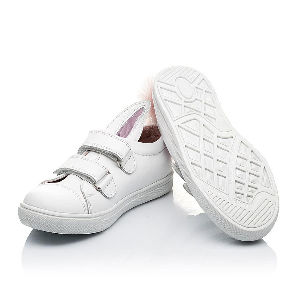 Детские кеды Woopy Orthopedic белые для девочек натуральная кожа размер 21-33 (3494) Фото 2