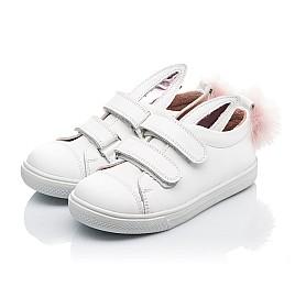 Детские кеды Woopy Orthopedic белые для девочек натуральная кожа размер 23-23 (3494) Фото 3