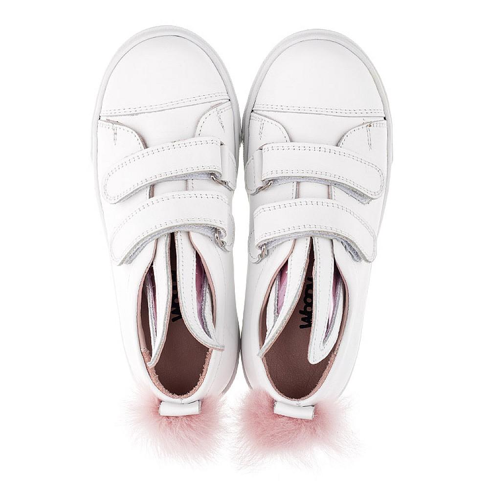 Детские кеды Woopy Orthopedic белые для девочек натуральная кожа размер 21-33 (3494) Фото 5