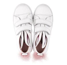 Детские кеды Woopy Orthopedic белые для девочек натуральная кожа размер 23-23 (3494) Фото 5